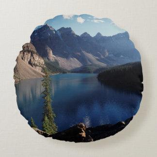 Banff National Park Moraine Lake Round Cushion