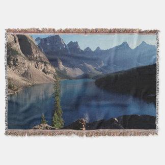 Banff National Park Moraine Lake Throw Blanket