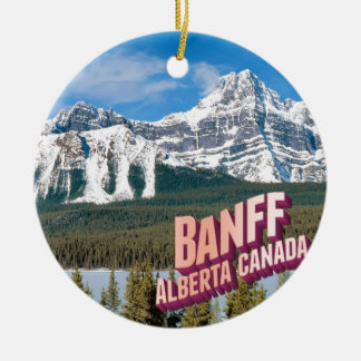 Banff national park round ceramic decoration