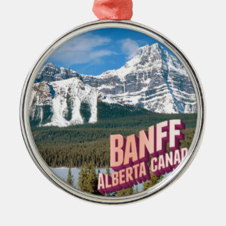 Banff national park Silver-Colored round decoration