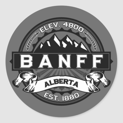 Banff Tile Gray Stickers