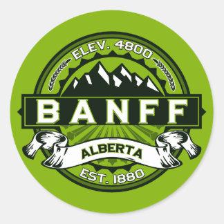Banff Tile Green Classic Round Sticker