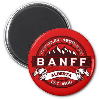 Banff Tile Red 6 Cm Round Magnet