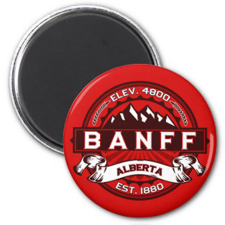 Banff Tile Red Fridge Magnets