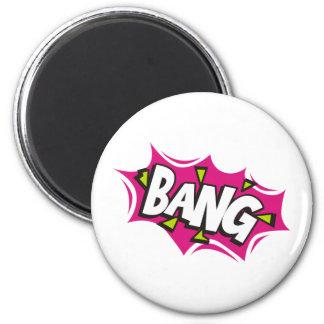 Bang Cartoon Pow Zap Magnet