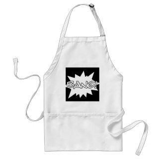 bang! comic hero sounds loud actions standard apron