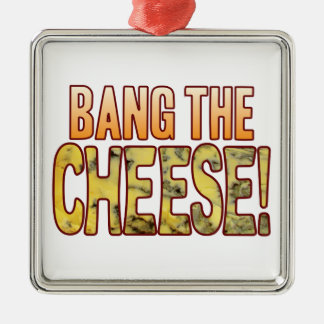 Bang The Blue Cheese Silver-Colored Square Decoration