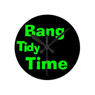 Bang Tidy Round Clock