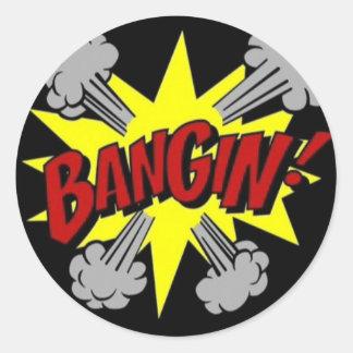 bangin round sticker