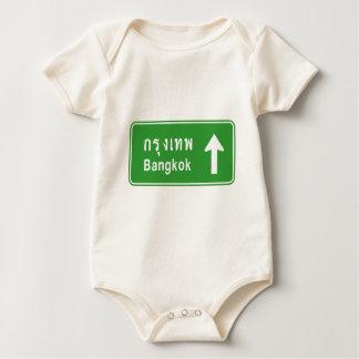Bangkok Ahead ⚠ Thai Highway Traffic Sign ⚠ Baby Bodysuit