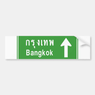 Bangkok Ahead ⚠ Thai Highway Traffic Sign ⚠ Bumper Sticker