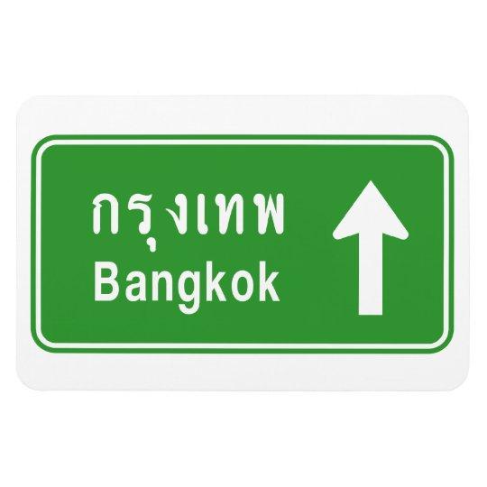 Bangkok Ahead ⚠ Thai Highway Traffic Sign ⚠