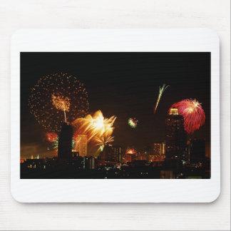 Bangkok fireworks mouse mat