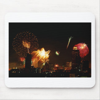 Bangkok fireworks mouse pad