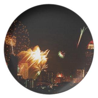 Bangkok fireworks plate