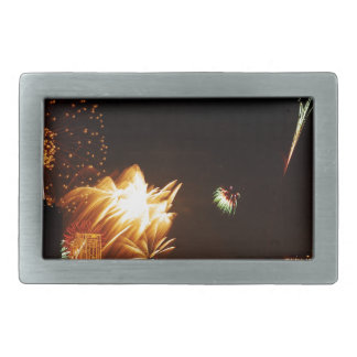 Bangkok fireworks rectangular belt buckle