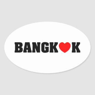 BANGKOK LOVE OVAL STICKER