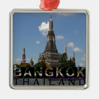 Bangkok Silver-Colored Square Decoration