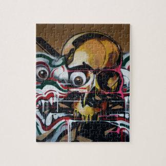 Bangkok Skull Graffiti Jigsaw Puzzle