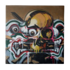 Bangkok Skull Graffiti Tile