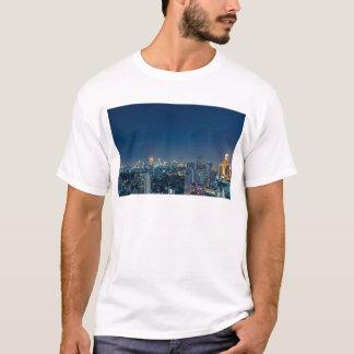 Bangkok skyline at night panorama T-Shirt
