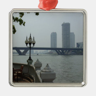 Bangkok Thailand Chao Phraya River Overlook Christmas Ornament