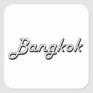 Bangkok Thailand Classic Retro Design Square Sticker
