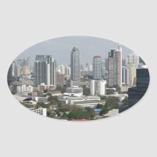 Bangkok, Thailand. Oval Sticker
