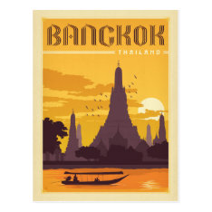 Bangkok, Thailand Postcard at Zazzle