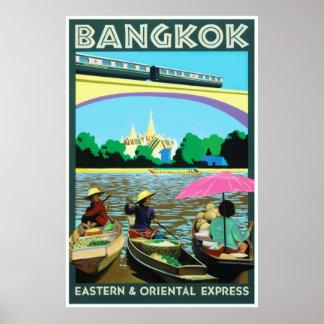 Bangkok,Thailand Vintage Travel Print