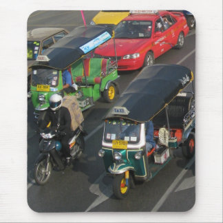 Bangkok Traffic ... Tuk Tuk Racing Mouse Pad