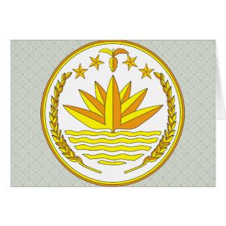 Bangladesh Coat of Arms detail Greeting Card
