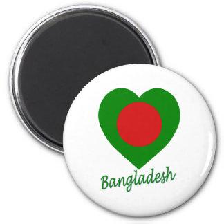 Bangladesh Flag Heart Magnet