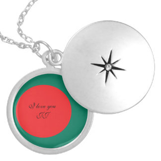 Bangladesh flag locket necklace