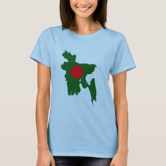 Bangladesh flag map T-Shirt
