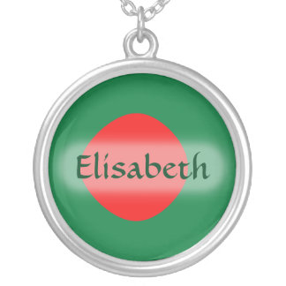 Bangladesh Flag + Name Necklace