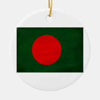 Bangladesh Flag Round Ceramic Decoration