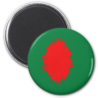 Bangladesh Gnarly Flag 6 Cm Round Magnet