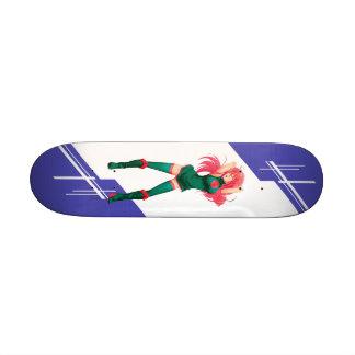 Bangladesh Manga girl dressed in Flag Skate Decks