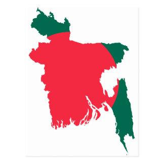 Bangladesh map BD Postcard