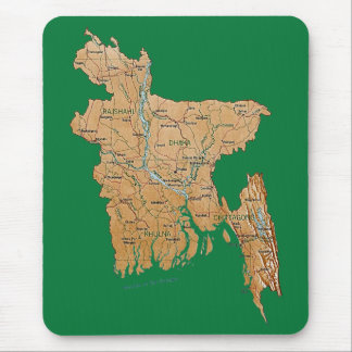 Bangladesh Map Mousepad