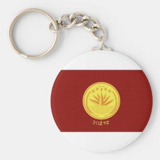 Bangladesh President Flag Basic Round Button Key Ring