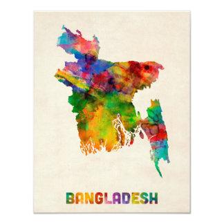 Bangladesh Watercolor Map Card