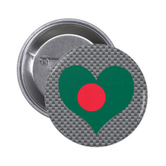 Bangladeshi Flag on a cloudy background 2 Inch Round Button