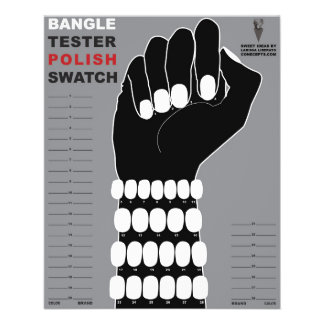 Bangle Tester Polish Swatch for Nails 11.5 Cm X 14 Cm Flyer