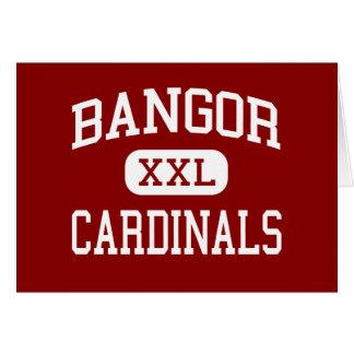 Bangor - Cardinals - High - Bangor Wisconsin Greeting Cards