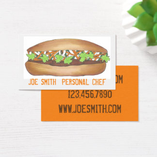 Banh Mi Sandwich Personal Chef Food Business Cards