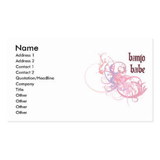 Banjo Babe Business Card Template