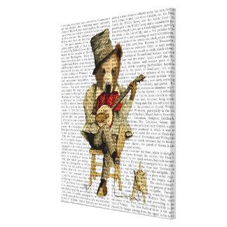 Banjo Bear Canvas Print