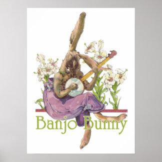 Banjo Bunny Poster